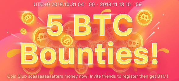 CoinClub 100 CCU Token Signup Bonus - Join 5 BTC Bounty - Earn Daily CCU  Token