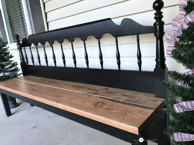 make your headboard into a bench