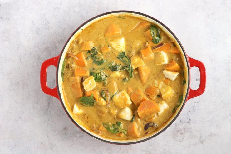 Halloumi & Sweet Potato Curry