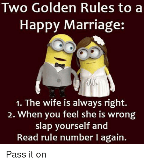 rules for a happy marriage funny