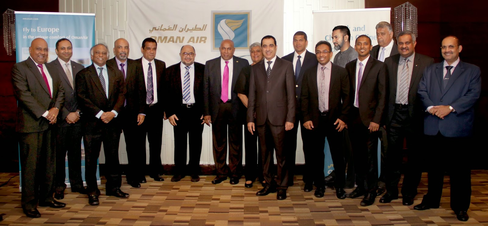 Abdulrahaman Al-Busaidy - Chief Operating Officer, Abdulrazaq bin Juma Alraisi - Chief Commercial Officer, Senior Managers from HDQ, Gihan Karunaratne - Country Manager - Sri Lanka & Maldives with the top performing Sri Lankan agents and the management team of the General Sales Agents.