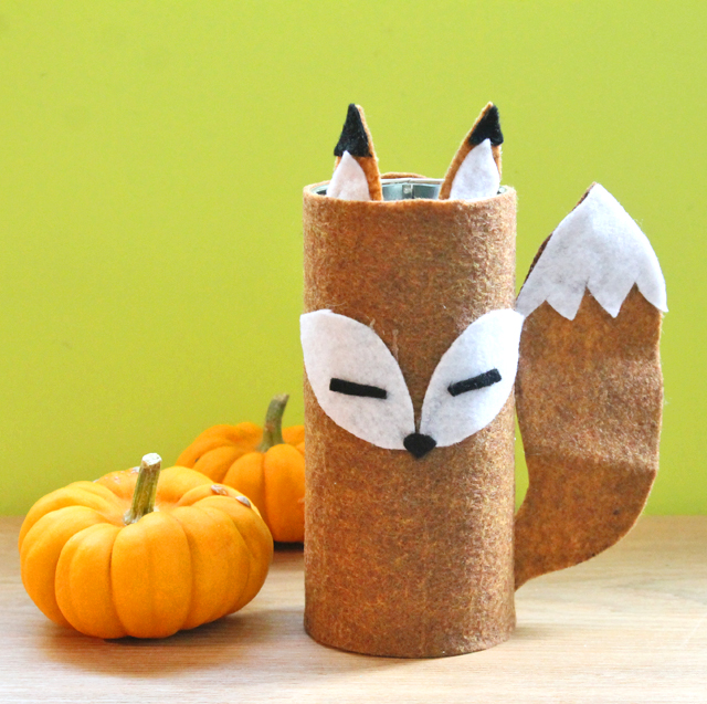 Recycle a Tin Can into a Cute Felt Fox using this craft tutorial by @punkprojects