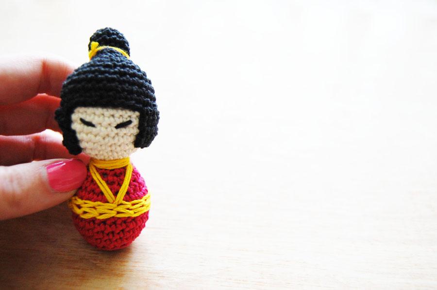 Amigurumi Kokeshi Doll Free Crochet Pattern | 598x900