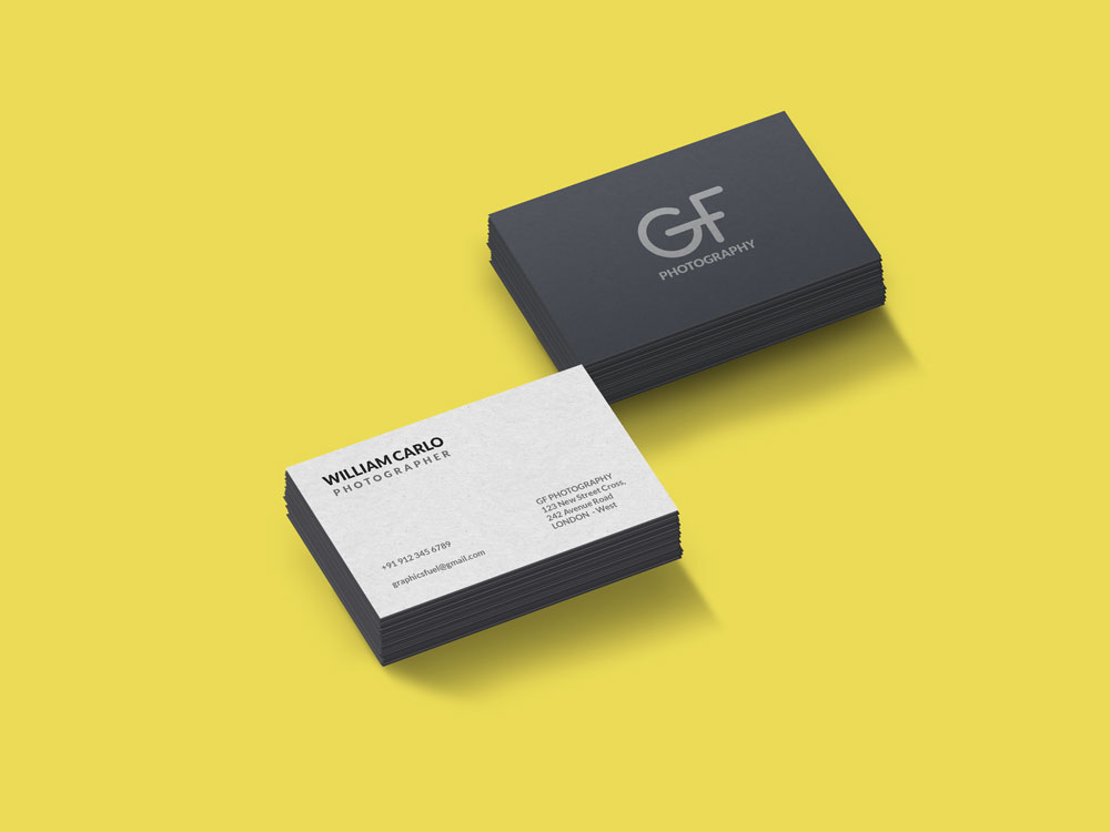 Free Business Card Mockup PSD Files