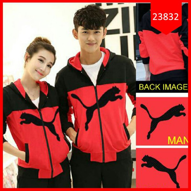 Jual Jacket Couple Jacket Puma 3W Merah - 23620