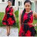 Red Black Dress Woman Interest