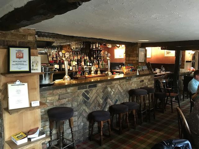 The bar area - Bricklayers Arms, Flaunden