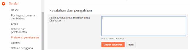 Cara Mengalihkan URL Halaman Error 404 ke Homepage - Tutorial Blogger