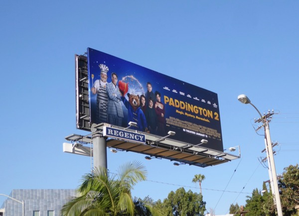 Paddington 2 movie billboard