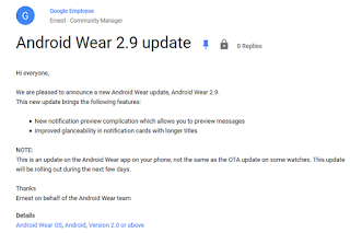 android wear upsldate