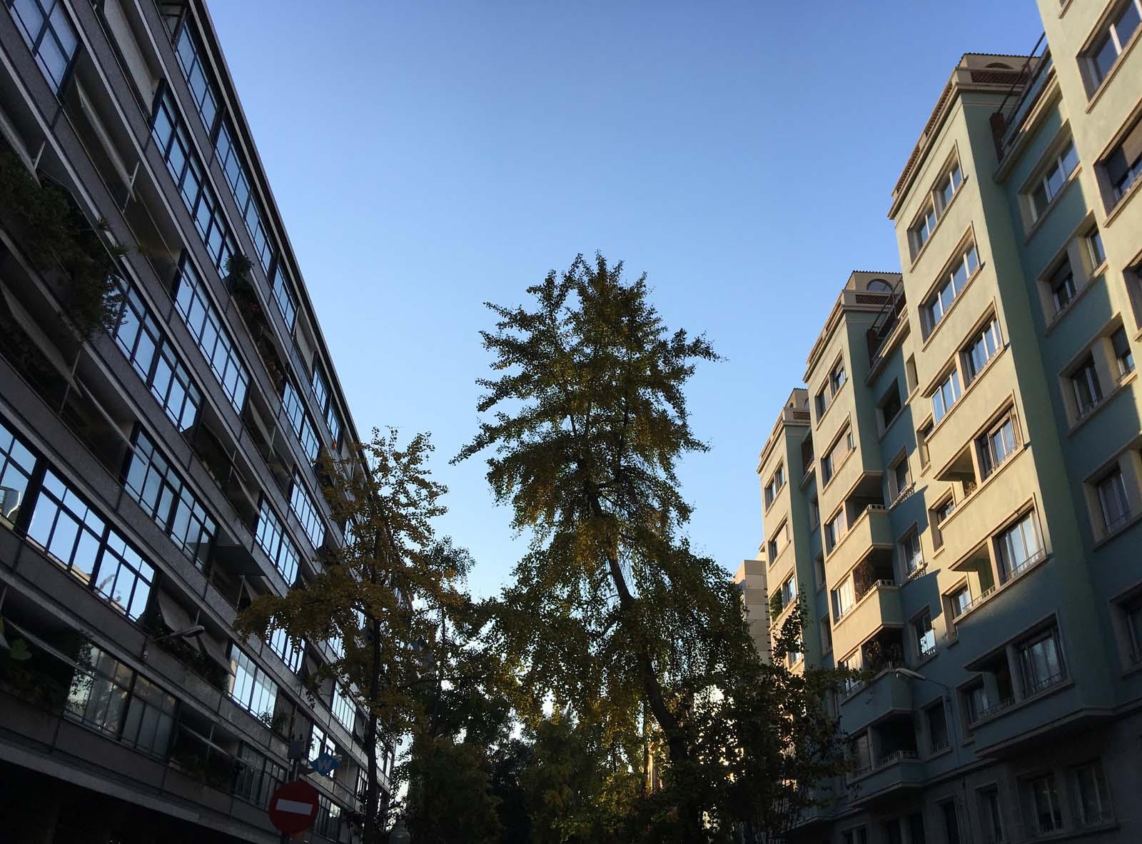 uve de vía augusta, barcelona, diciembre 2017