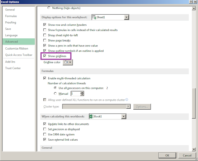 Cara Menghilangkan Garis Pada Lembar Kerja Microsoft Excel