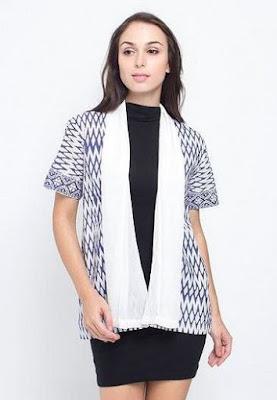 Model Baju Batik Kombinasi Bolero kerja kantoran
