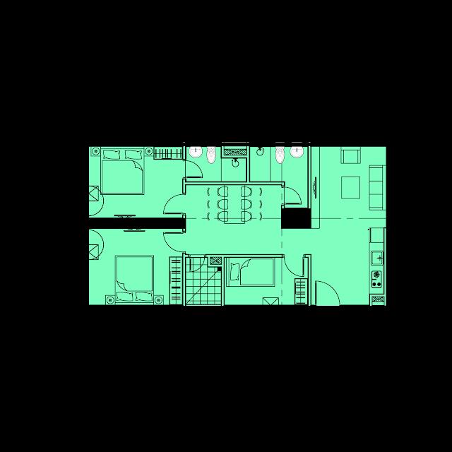 Thiết kế căn hộ B2 - 77,2m2 tòa River1 EuroWindow River Park
