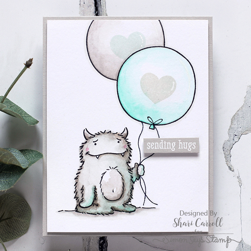 The Monster Hugs Stamp Set Is Really Fun It Has Messages That Can Be Used For All Kinds Of Occasions