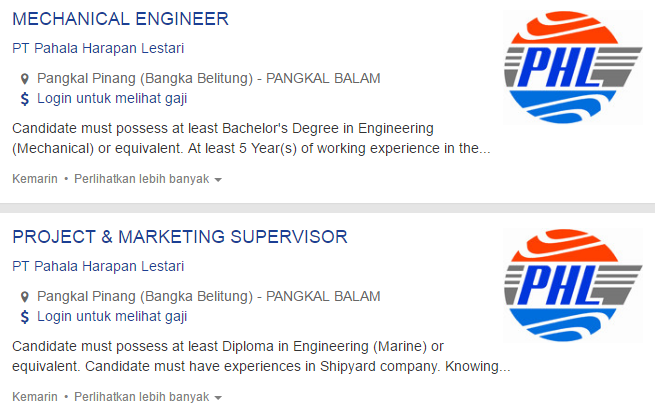 Info Terbaru Lowongan Kerja Kabupaten Belitung 2019