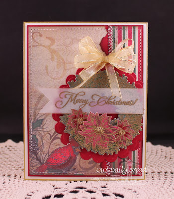 Our Daily Bread Designs, Poinsettia Wreath, Gift Of God, Poinsettia Wreath, Antique Labels and Borders, Christmas Paper Collection 2013