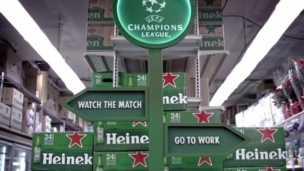 Heineken o cómo convencer a tu jefe para ir a la Champions