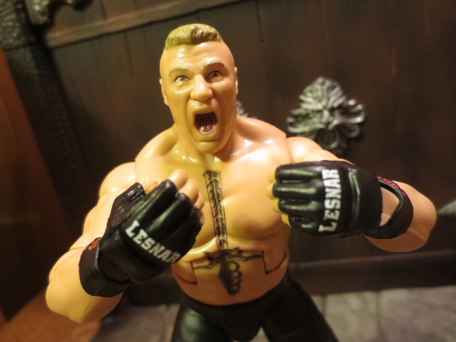 Ill Just Say It The Extreme Pterodactyl Scream Expression On Brock Lesnars Face Sold Me This Figure I Know That Facial Expressions Action