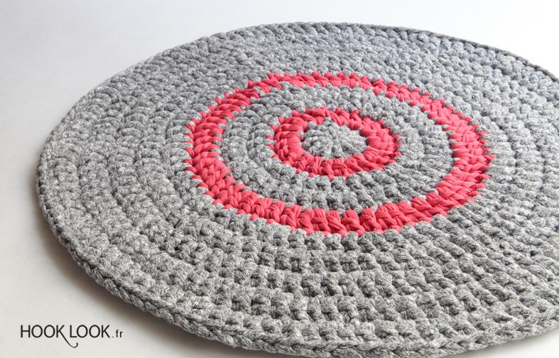 tapis crochete en rond hooklook meli