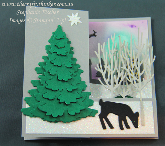 #thecraftythinker  #stampinup  #christmascard  #doublezfold  #funfold , Xmas card, Christmas card, Double Z Fold, Fun Fold, Hometown Greetings, In The Woods, Stampin' Up Australia Demonstrator, Stephanie Fischer, Sydney NSW