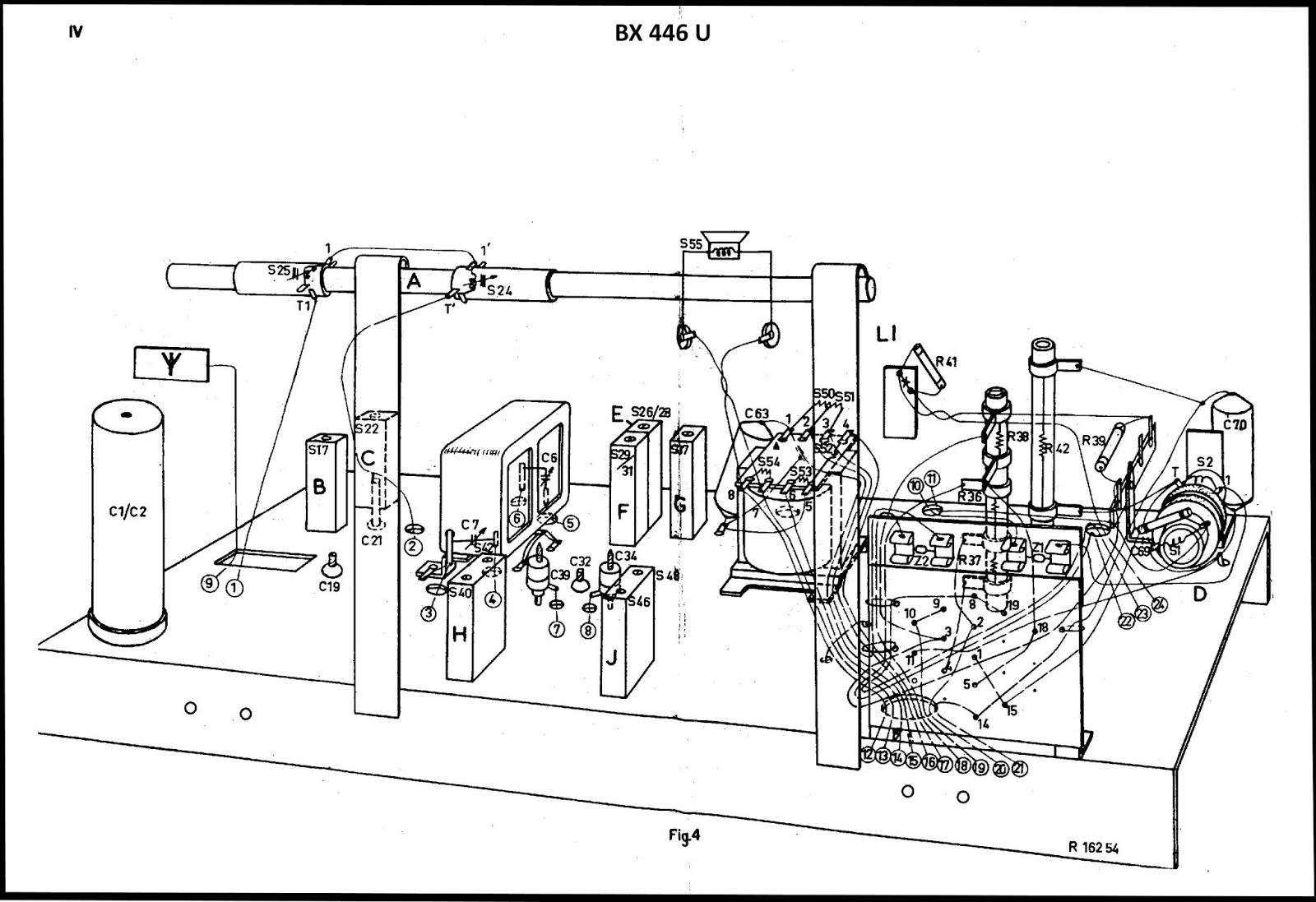 Os rádios do Claudino: Rádio Philips modelo BX446U