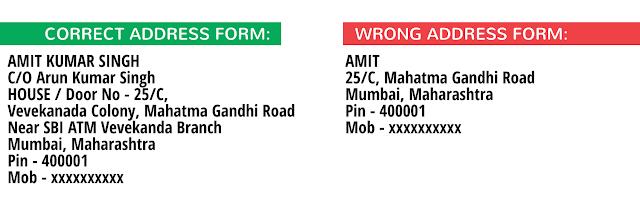 EXAM360 Correct Address Format