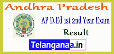 AP D.Ed 1st 2nd Year Result