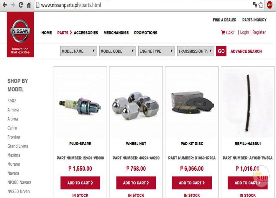 Nissan Philippines Launches Website to Sell Car Parts and
