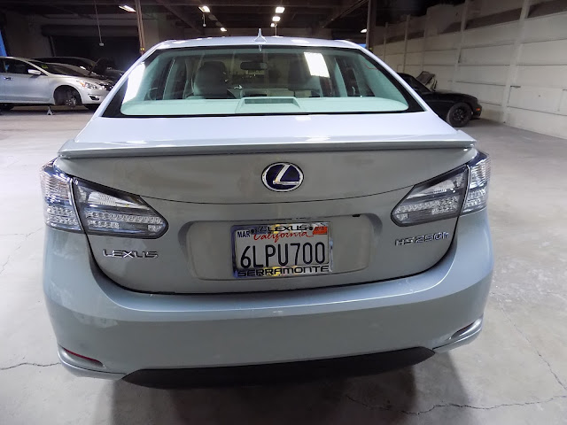 Lexus HS250h after auto body repairs at Almost Everything Auto Body.