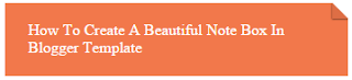 soft orange color css note box for blogger template