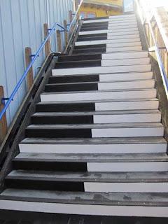 Climb The Musical Stairs.