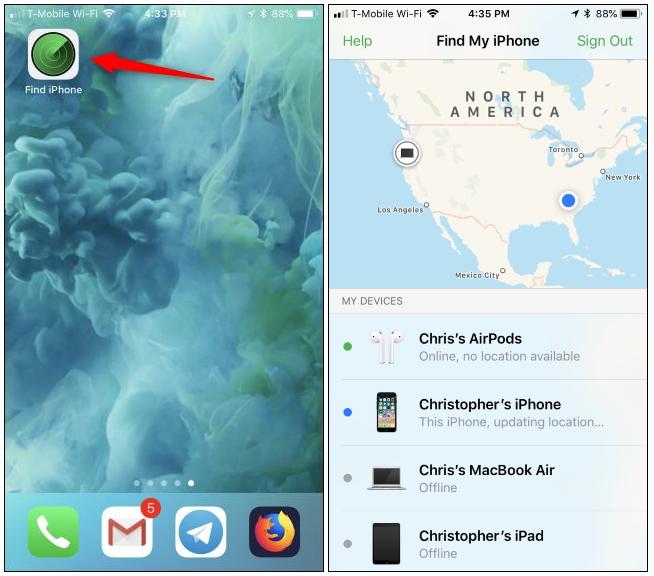 app per trovare gli airpods