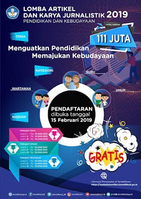 Poster Lomba Artikel Kemdikbud 2019