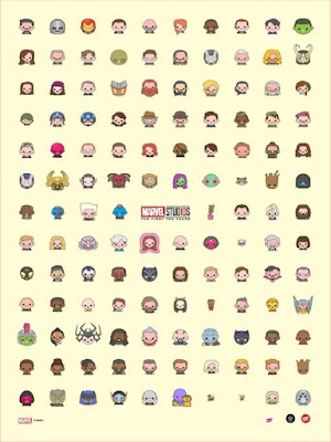 San Diego Comic-Con 2018 Exclusive Marvel Studios: The First Ten Years Emoji Print by 100% Soft x Grey Matter Art