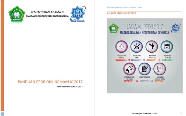 Panduan PPDB Online MAN Insan Cendikia Tahun Ajaran 2017/2018