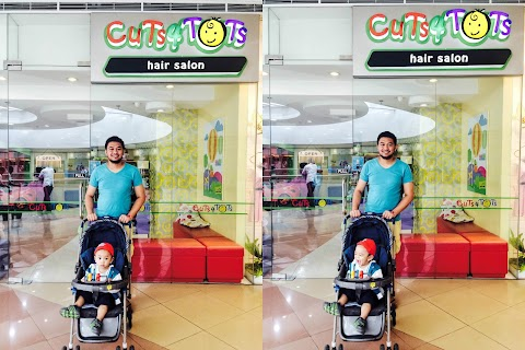 Prince's First Haircut at Cuts4Tots Hair Salon
