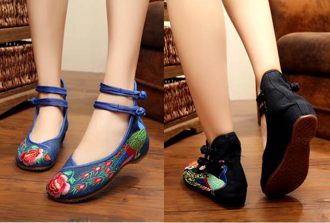 Model sepatu flat ankle strap untuk wanita berkaki besar