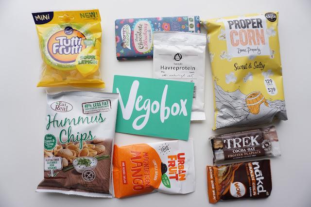vegobox vegaaninen herkkuboksi vegaani herkku toukokuu hummus chips eat real fazer trek patukka
