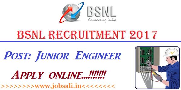 BSNL Job Vacancies, BSNL Jobs, BSNL Online application