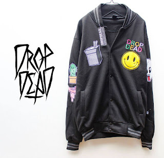 Jaket Fleece Hoodie - Dropdead DROP008