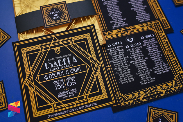 Great Gatsby Themed Debut Invitation - Stunro CreativeWorks