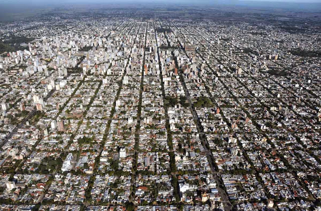 imagem aérea de La Plata