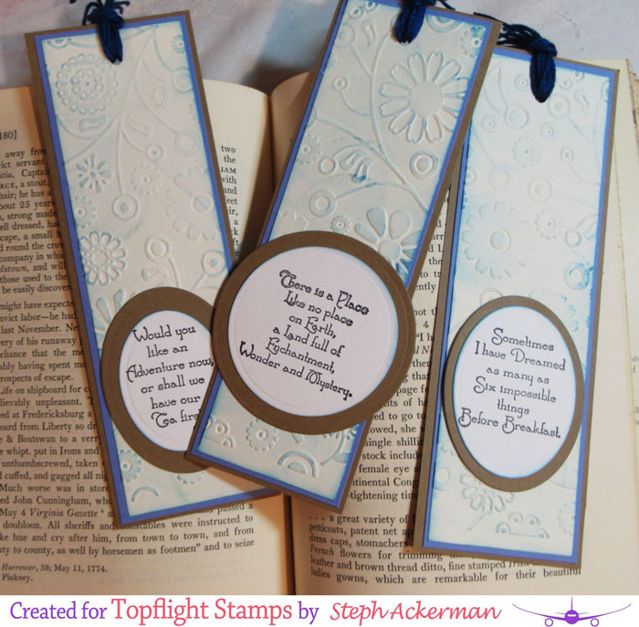 Topflight Stamps Embossed Bookmarks