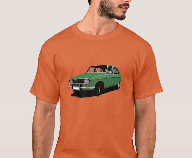 Renault 16 TL green vintage car t-shirt