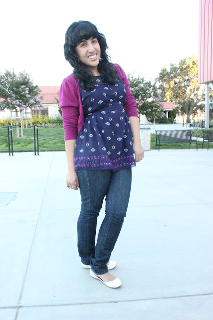 Anna Sui for Target Top and Skinny Jeans Outfit