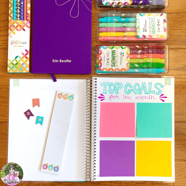 Journaling Supplies - Monthly Goals spread