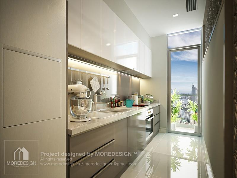 Thiết kế bếp chung cư đẹp