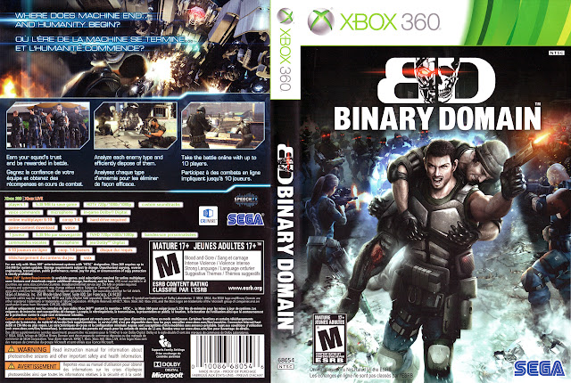 Capa xBox360 BINARY DOMAIN