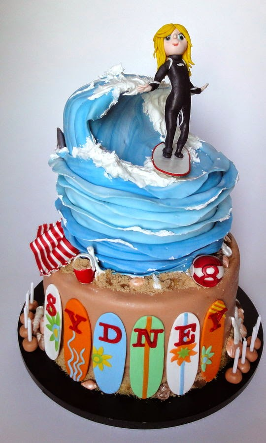 http://cakecentral.com/g/i/3136668/surfer-girl-cake-modeled-after-the-8-year-old-surfer-herself-black-wetsuit-and-surfboard-colors-match-her-own-wave-made-from-a-combination-of-carving-gumpaste-and-royal-icing/